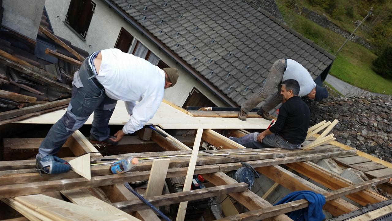 Rifacimento tetto Piano di Peccia (Ticino)